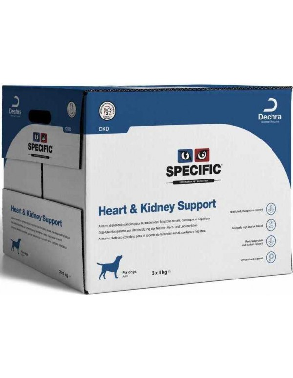 Specific VD CKD Heart & Kidney Support 12 Kg Alimento Seco Cão