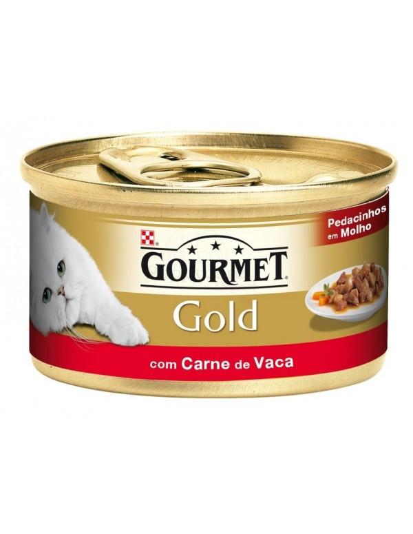 GOURMET® Gold Pedacinhos em Molho com Carne de Vaca 85g