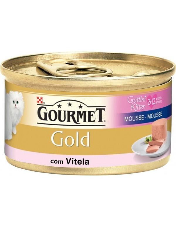 PURINA® GOURMET® Gold Mousse Gatinhos com Vitela 85g