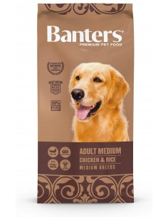 Banters Adult Medio Chicken e Rice Alimento Seco Cão 15 Kg
