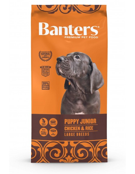 Banterd Puppy Junior Large Breeds Chicken e Rice 15Kg