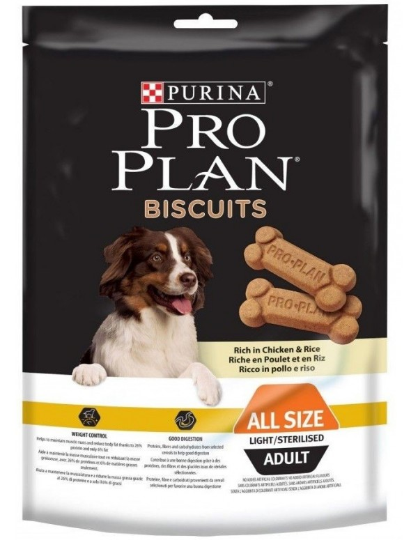 Pro Plan Biscoitos Light/Sterilised Snack Cão