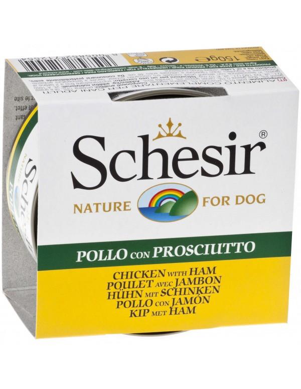 Schesir Nature Frango com Presunto Alimento Humido Cão