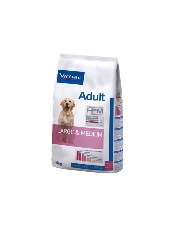 Virbac HPM Adult Dog Large & Medium Alimento Seco Cão